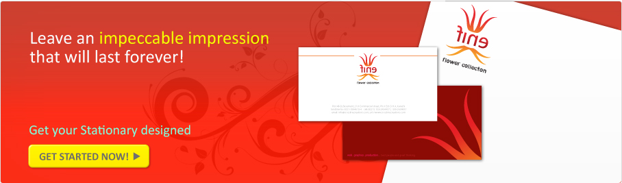 Banner showing stationary design services by Logoinn