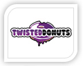 We created this logo for twisted donuts